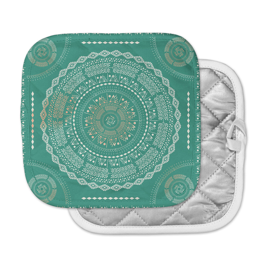 "Famenxt ""Mint Medallion"" Mint Pattern Pot Holder"