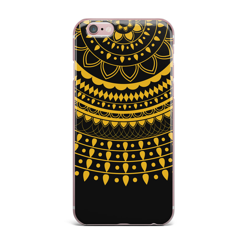 "Famenxt ""Golden Vibes Mandala"" Gold Black Digital iPhone Case - KESS InHouse"