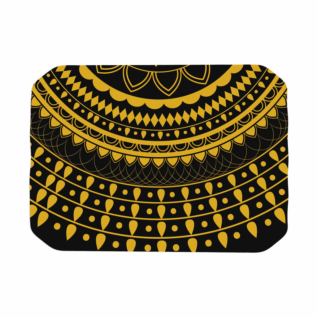"Famenxt ""Golden Vibes Mandala"" Gold Black Digital Place Mat"