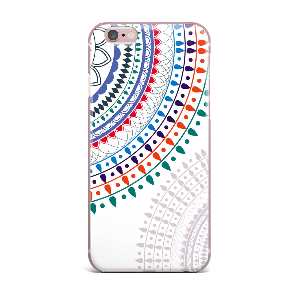"Famenxt ""Tribes Vibes Mandala"" White Multicolor Pattern iPhone Case - KESS InHouse"