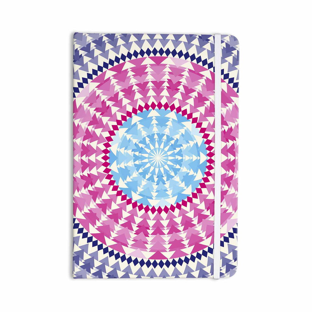"Famenxt ""Mandala Pink Blue"" Pink Blue Illustration Everything Notebook - KESS InHouse  - 1"