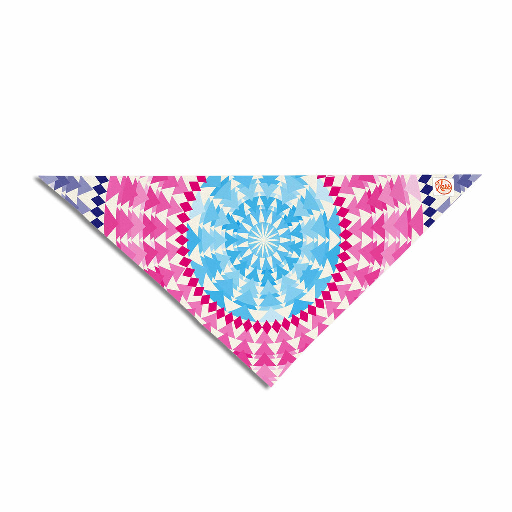 "Famenxt ""Mandala Pink Blue"" Pink Blue Illustration Pet Bandana"