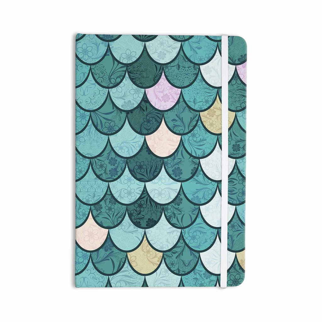 "Famenxt ""Mermaid Fish Scales"" Teal Nautical Illustration Everything Notebook - KESS InHouse  - 1"