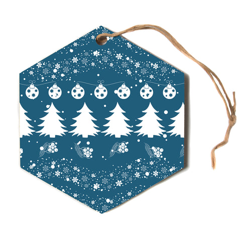 "Famenxt ""Merry Merry Christmas""  Hexagon Holiday Ornament"