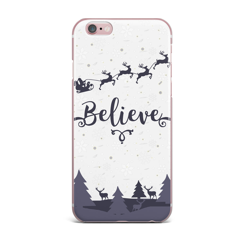 "Famenxt ""Christmas Believe"" Gray Lavender Illustration iPhone Case - KESS InHouse"
