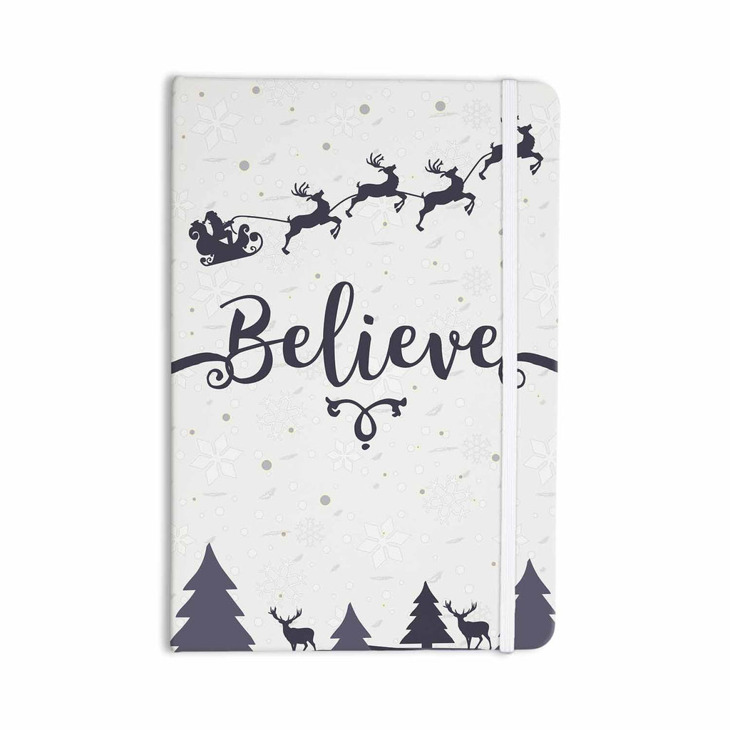 "Famenxt ""Christmas Believe"" Gray Lavender Illustration Everything Notebook - KESS InHouse  - 1"