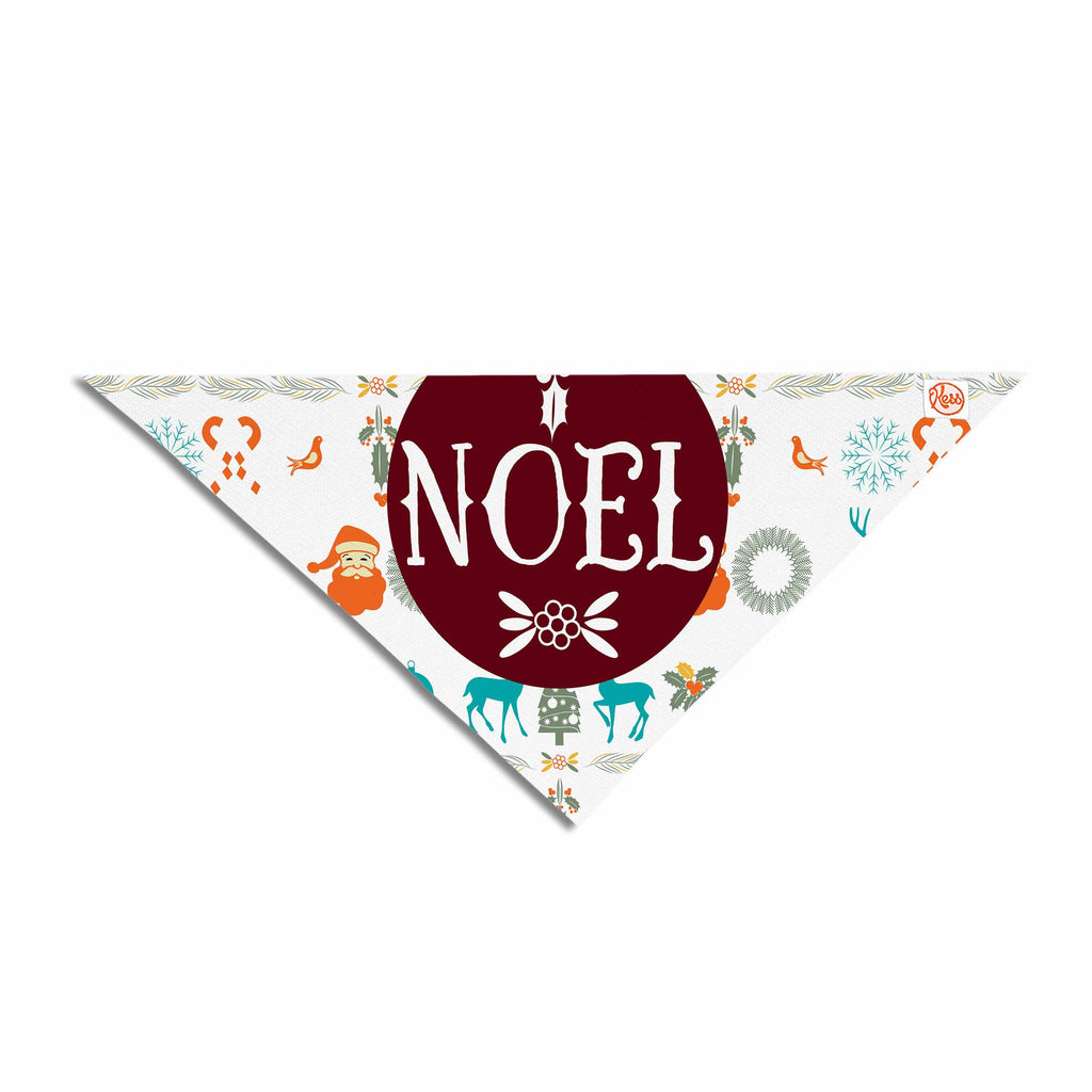 "Famenxt ""Noel"" Blue White Digital Pet Bandana"