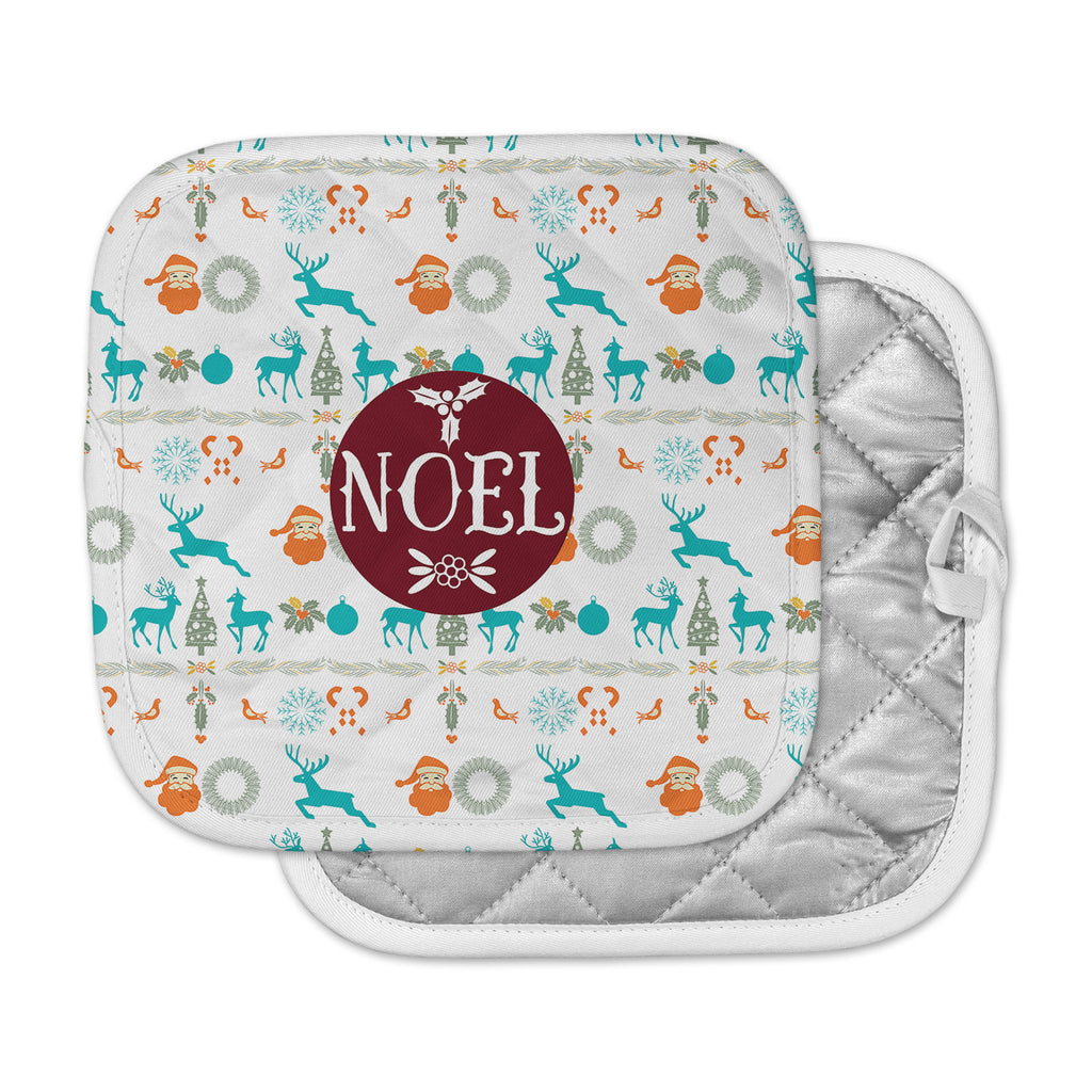 "Famenxt ""Noel"" Blue White Digital Pot Holder"