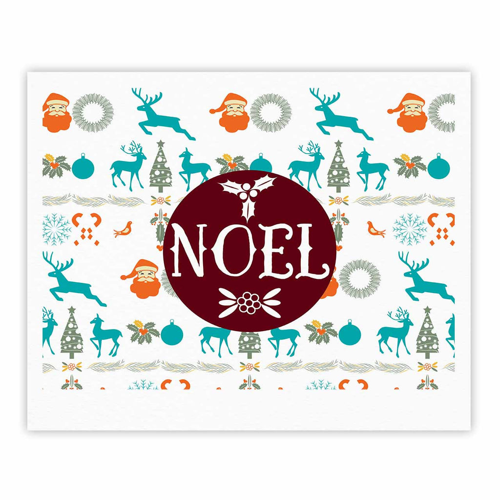 "Famenxt ""Noel"" Blue White Digital Fine Art Gallery Print"