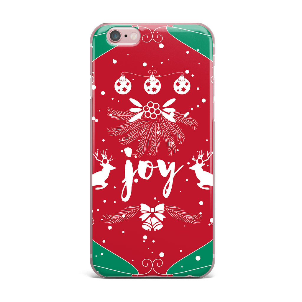 "Famenxt ""Christmas Joy"" Red Green Digital iPhone Case - KESS InHouse"