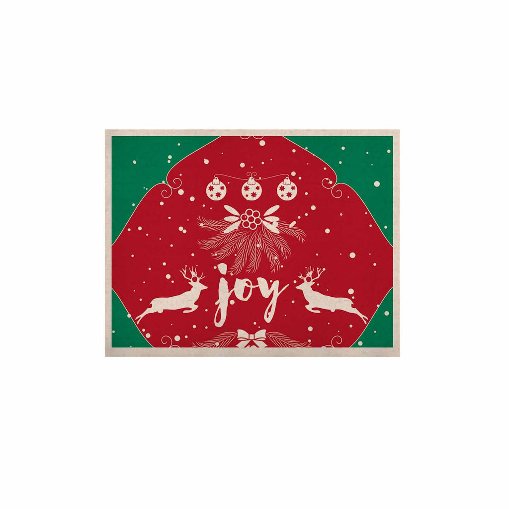 "Famenxt ""Christmas Joy"" Red Green Digital KESS Naturals Canvas (Frame not Included)"