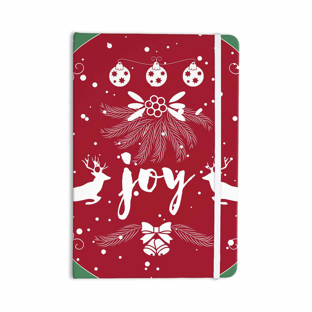 "Famenxt ""Christmas Joy"" Red Green Digital Everything Notebook - KESS InHouse  - 1"
