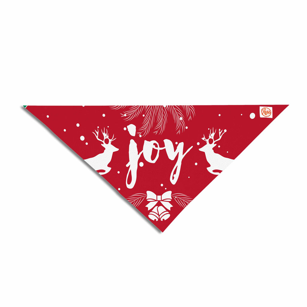 "Famenxt ""Christmas Joy"" Red Green Digital Pet Bandana"