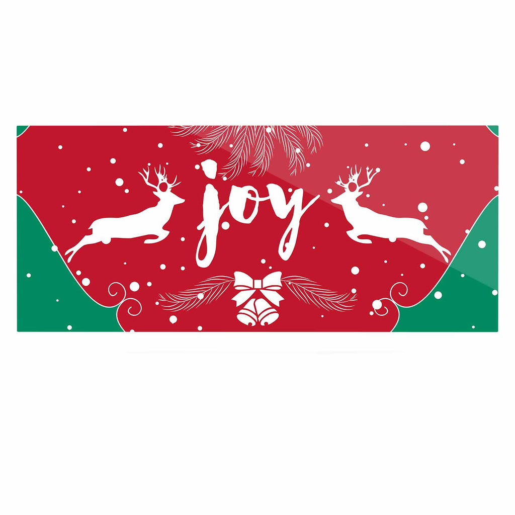 "Famenxt ""Christmas Joy"" Red Green Digital Luxe Rectangle Panel"