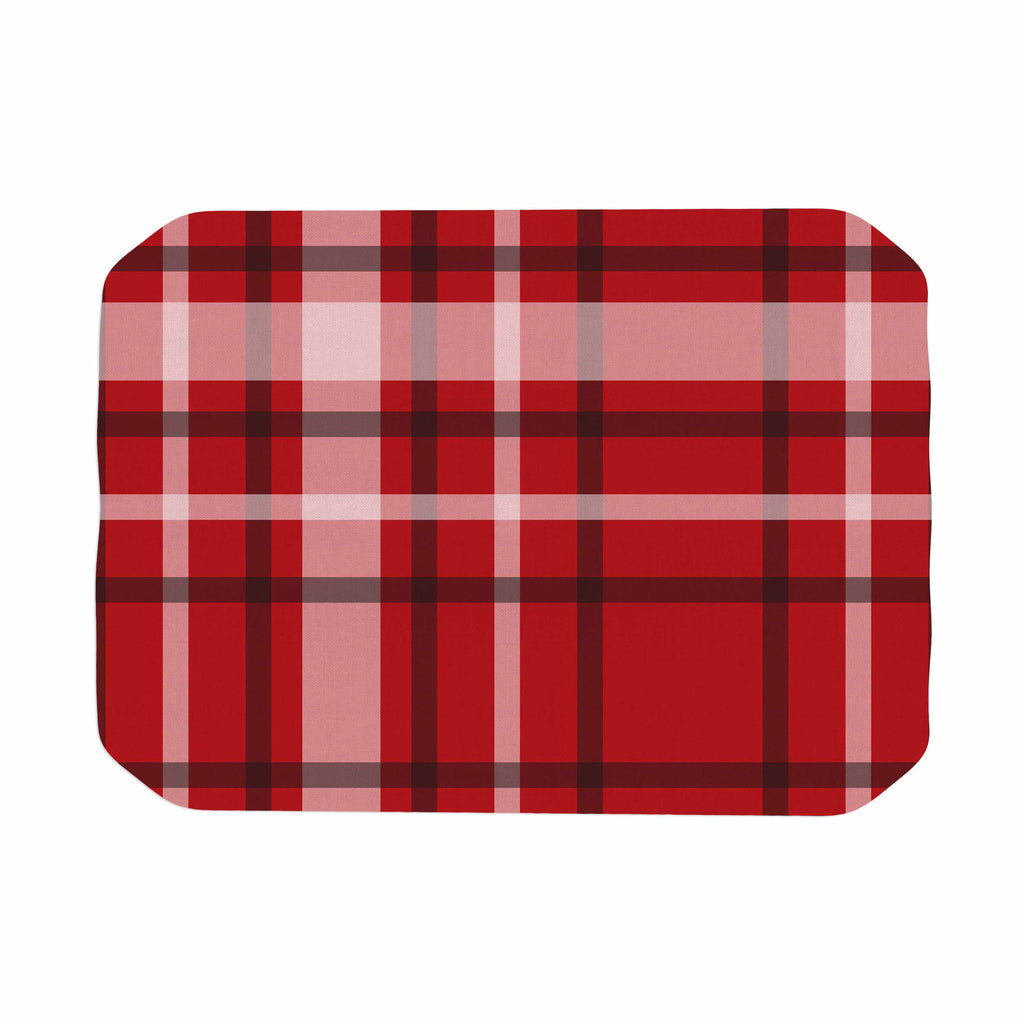 "Famenxt ""Plaid Red"" Red Black Digital Place Mat"
