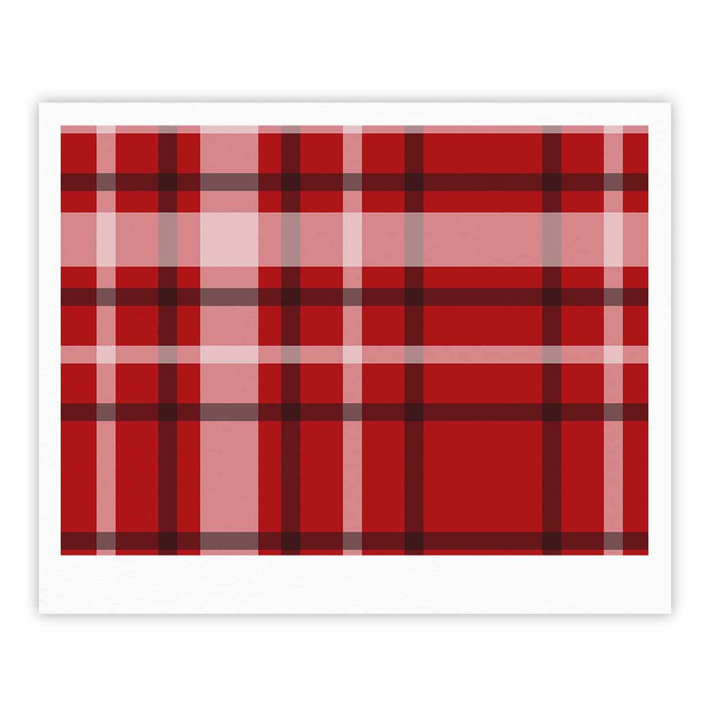 "Famenxt ""Plaid Red"" Red Black Digital Fine Art Gallery Print"