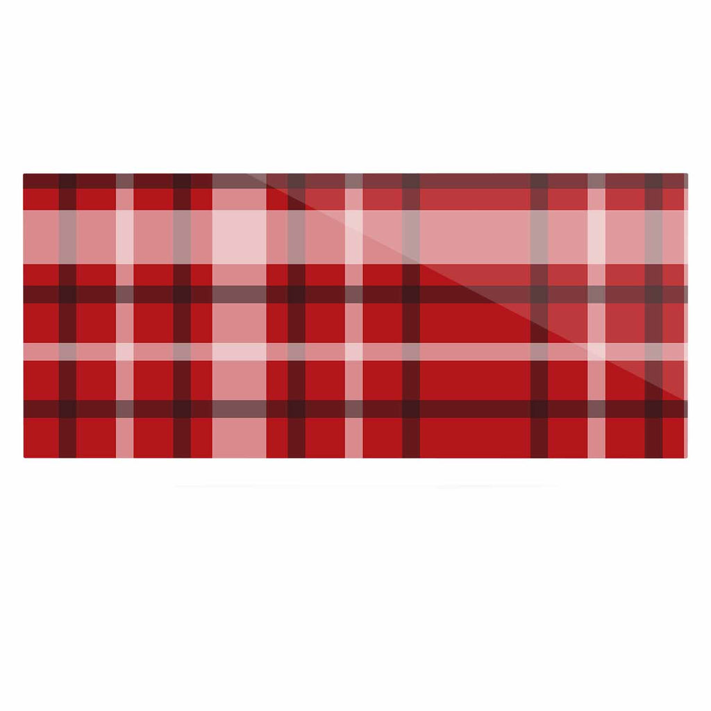 "Famenxt ""Plaid Red"" Red Black Digital Luxe Rectangle Panel"