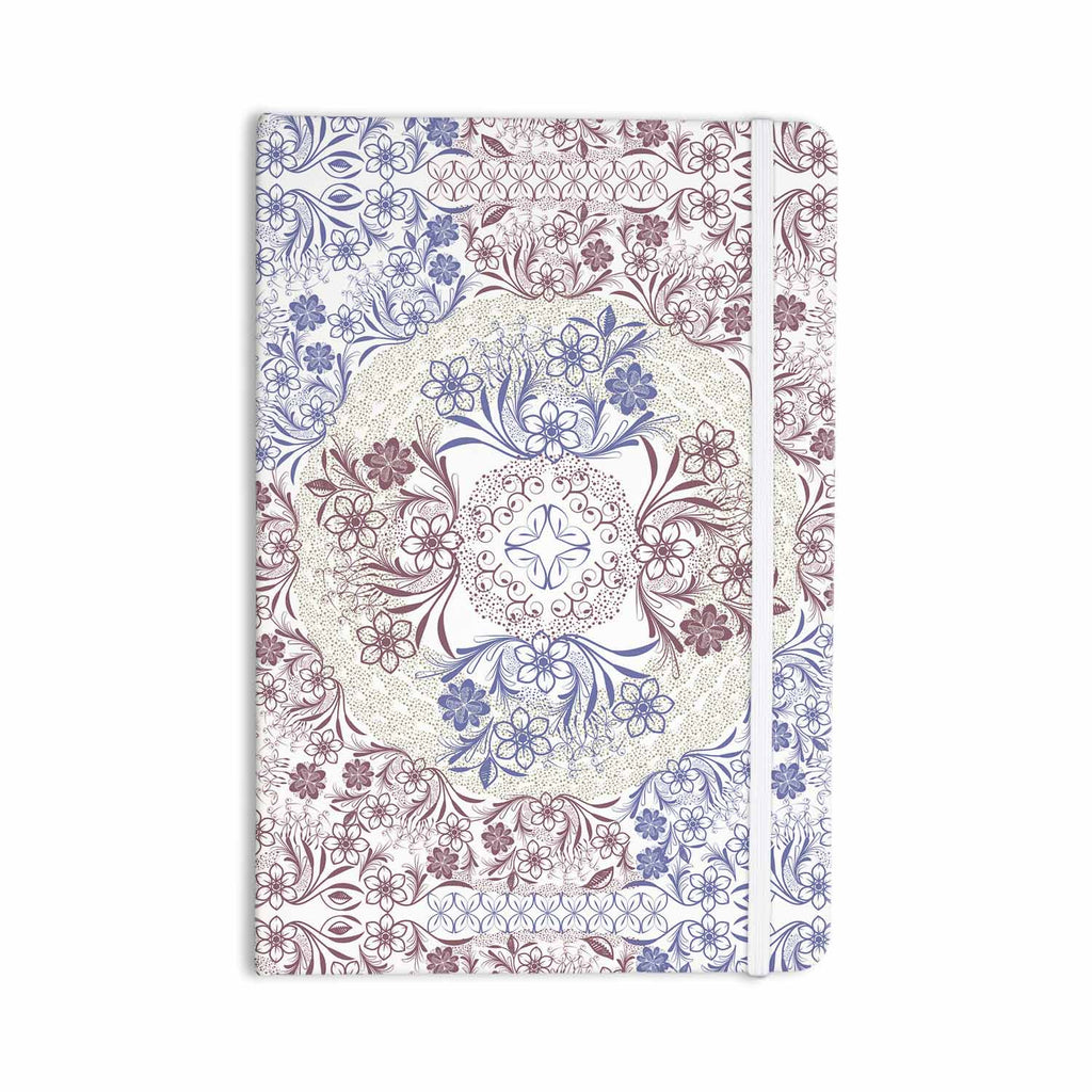 "Famenxt ""Floral Dense Garden"" Blue Brown Illustration Everything Notebook - KESS InHouse  - 1"