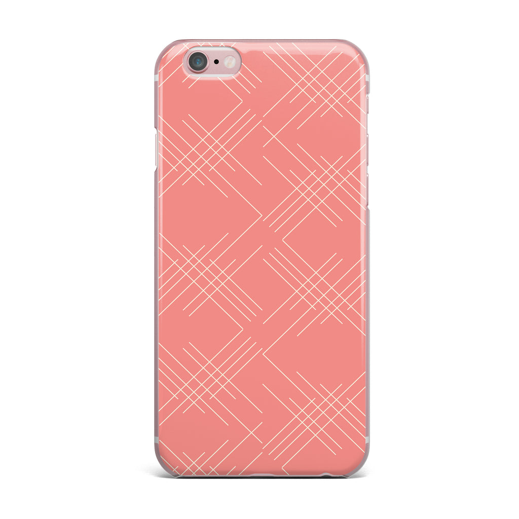"Famenxt ""All A Blaze Abstract"" Coral Beige Illustration iPhone Case - KESS InHouse"
