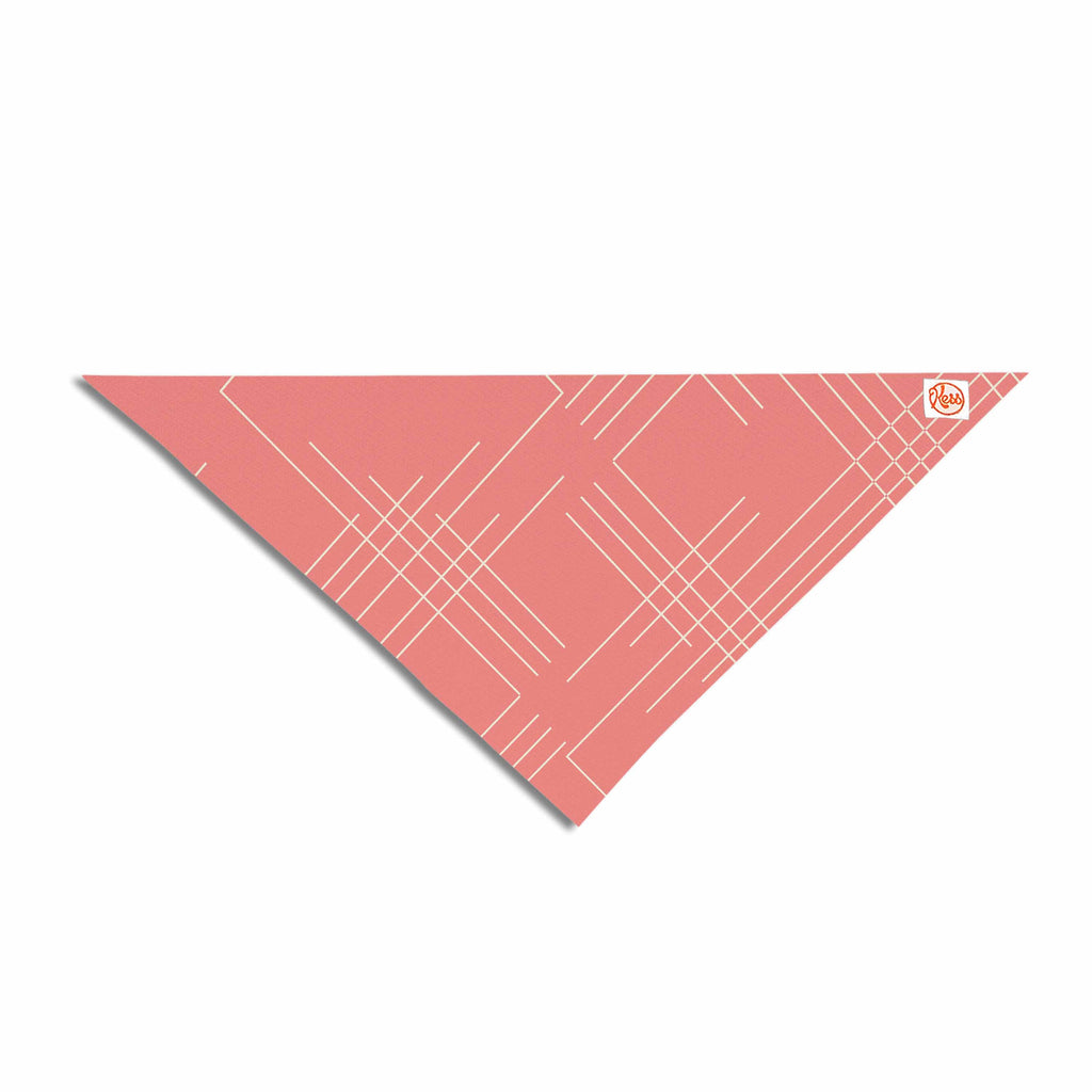 "Famenxt ""All A Blaze Abstract"" Coral Beige Illustration Pet Bandana"