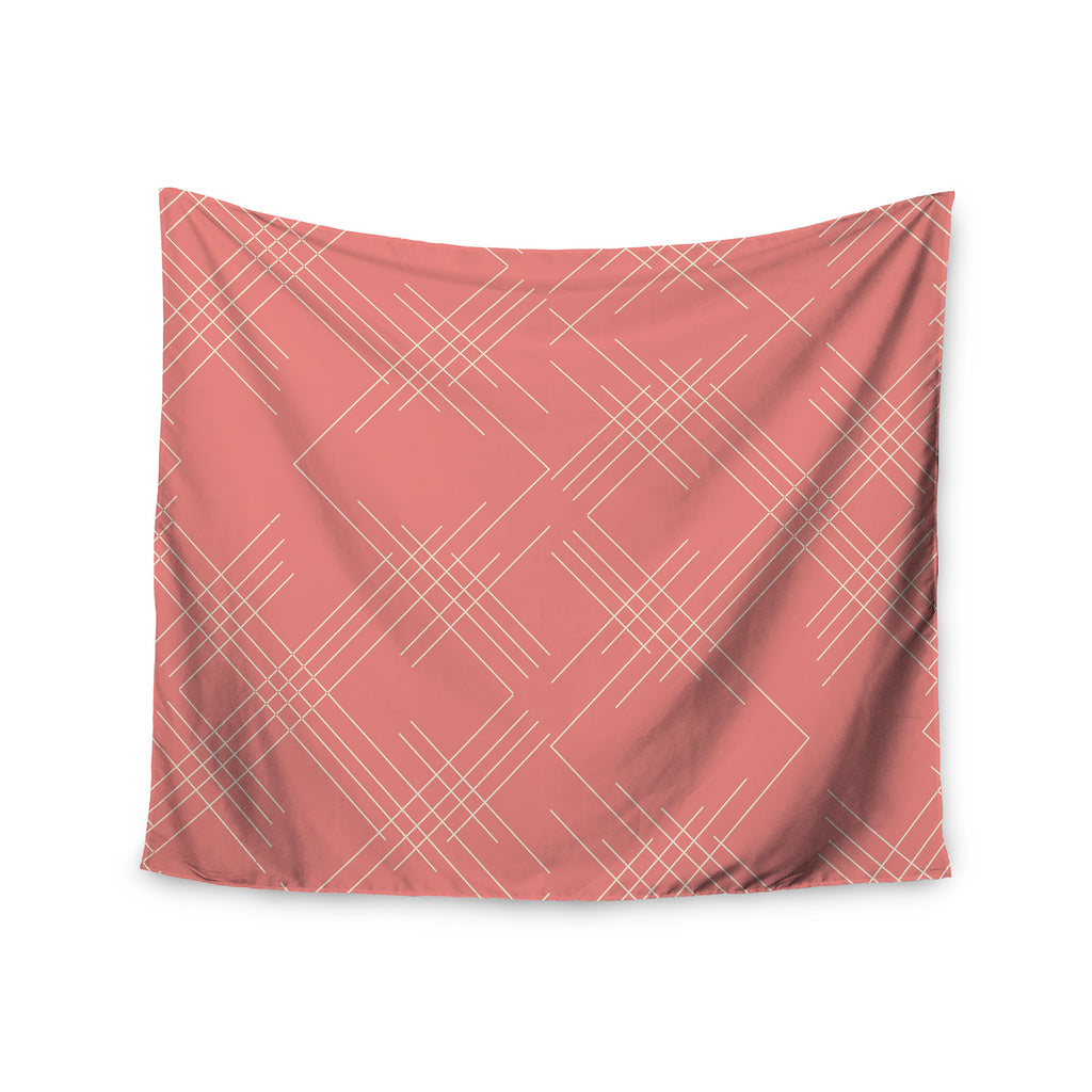"Famenxt ""All A Blaze Abstract"" Coral Beige Illustration Wall Tapestry - KESS InHouse  - 1"