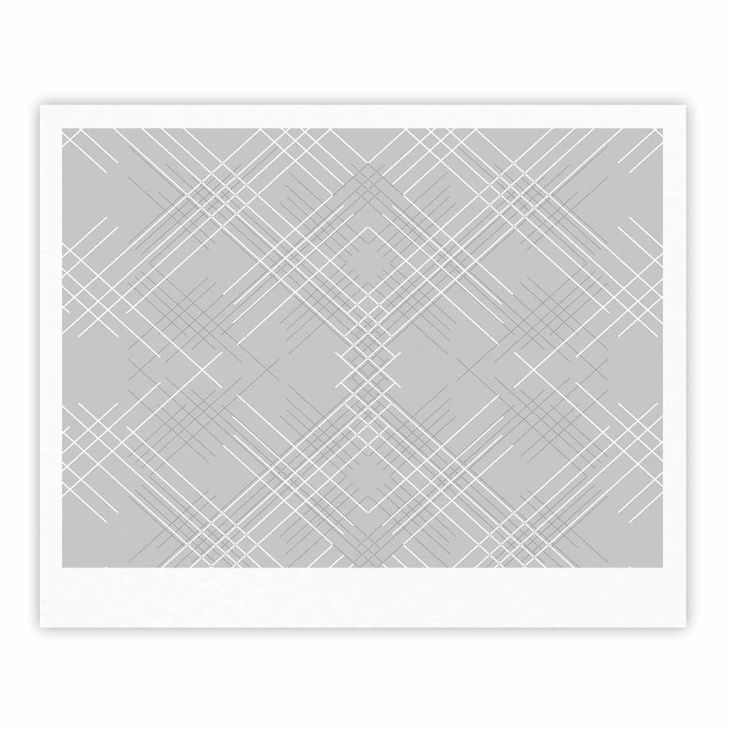 "Famenxt ""Gray Abstract"" Gray White Illustration Fine Art Gallery Print"
