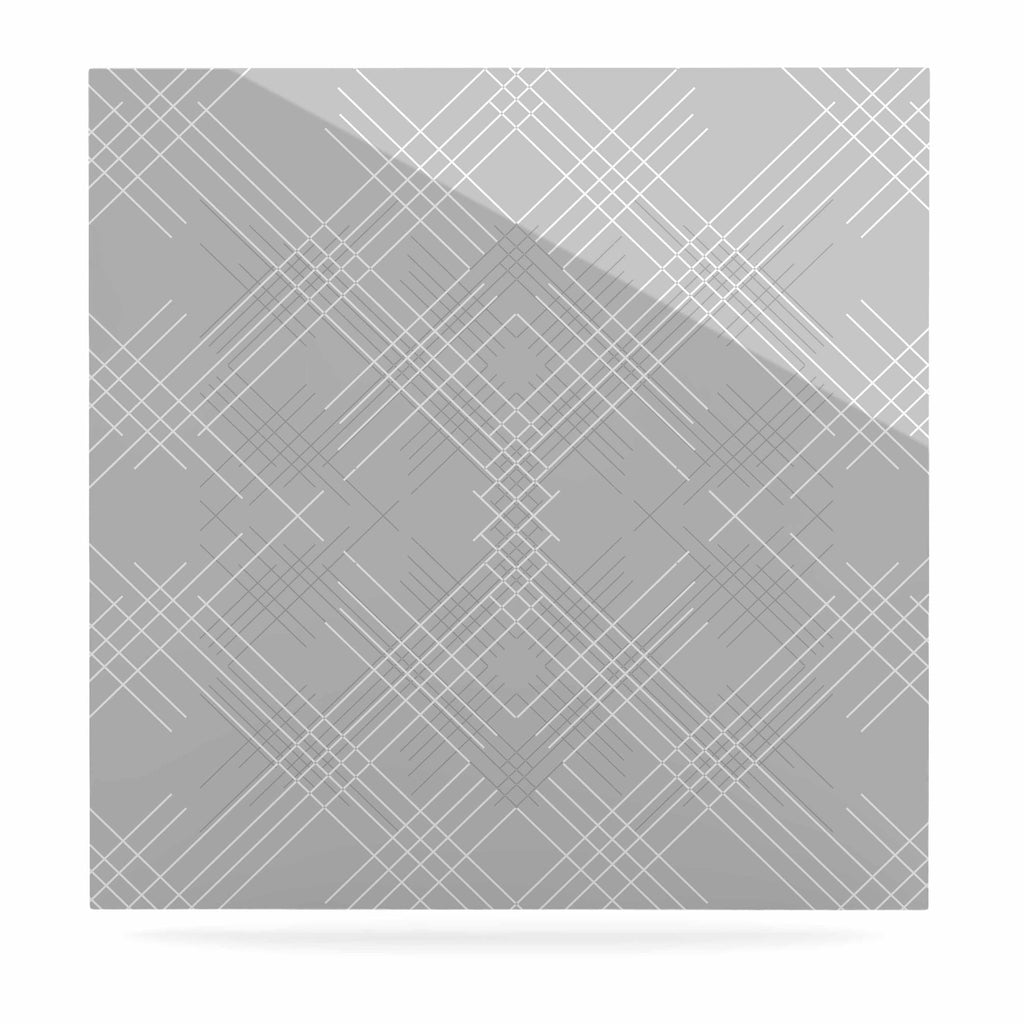 "Famenxt ""Gray Abstract"" Gray White Illustration Luxe Square Panel"