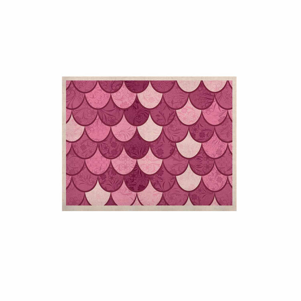 "Famenxt ""Pink Mermaid"" Pink Pattern Illustration KESS Naturals Canvas (Frame not Included)"