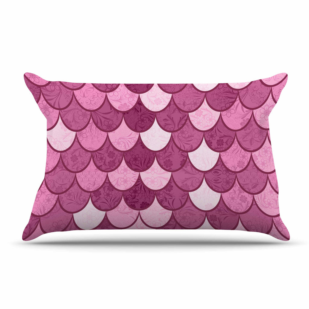 "Famenxt ""Pink Mermaid"" Pink Pattern Illustration Pillow Sham"