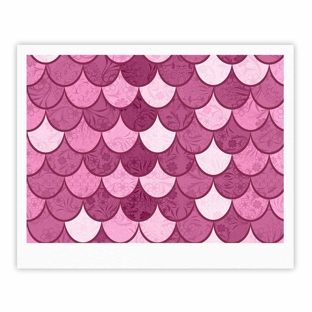"Famenxt ""Pink Mermaid"" Pink Pattern Illustration Fine Art Gallery Print"