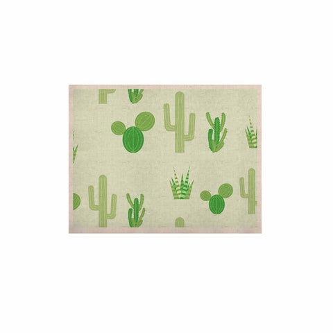 "Famenxt ""Prickly Mint Cactus"" Green Nature Illustration KESS Naturals Canvas (Frame not Included)"