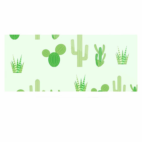 "Famenxt ""Prickly Mint Cactus"" Green Nature Illustration Luxe Rectangle Panel"