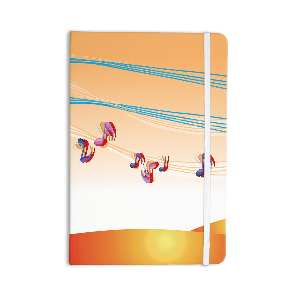 "Fotios Pavlopoulos ""Nature Music"" Orange White Everything Notebook - KESS InHouse  - 1"