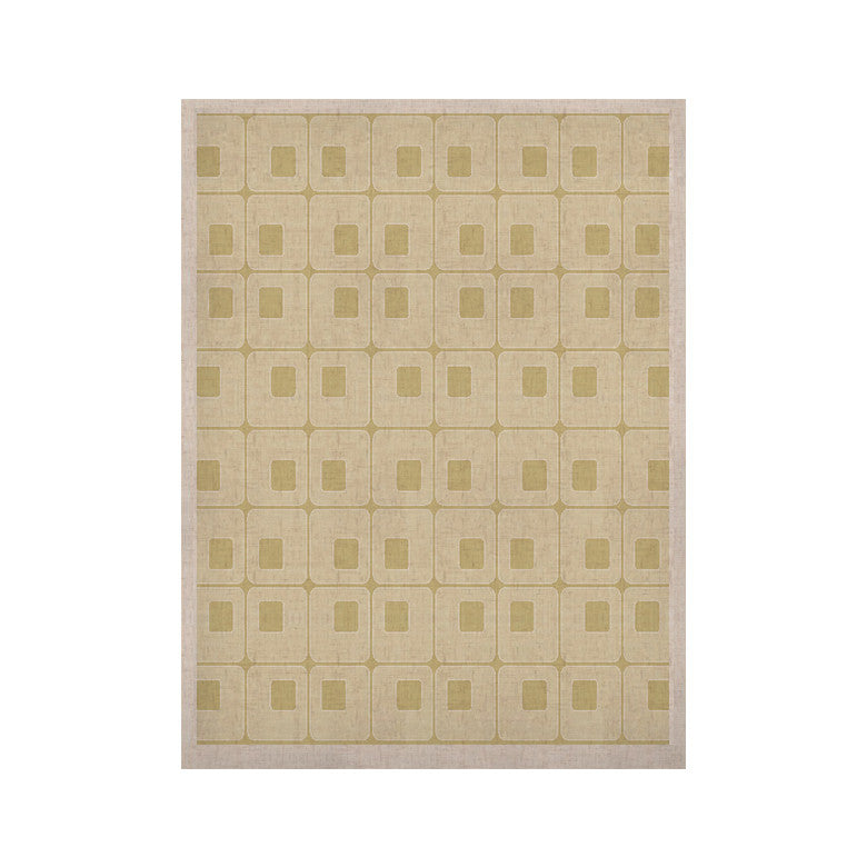 "Fotios Pavlopoulos ""Squares in Square"" Tan Shapes KESS Naturals Canvas (Frame not Included) - KESS InHouse  - 1"