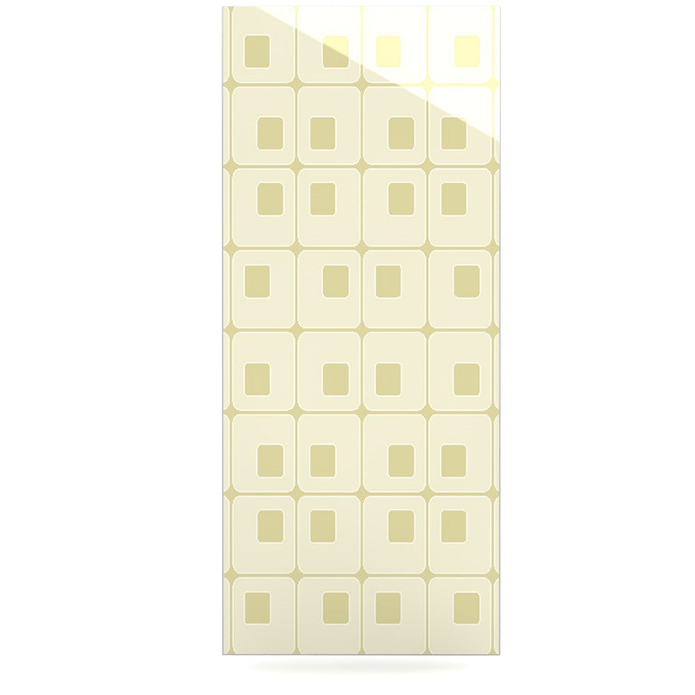 "Fotios Pavlopoulos ""Squares in Square"" Tan Shapes Luxe Rectangle Panel - KESS InHouse  - 1"