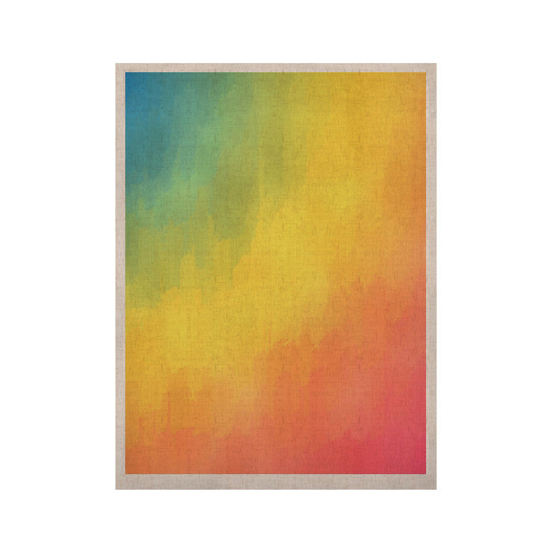 "Fotios Pavlopoulos ""Watercolor Layers"" Rainbow KESS Naturals Canvas (Frame not Included) - KESS InHouse  - 1"