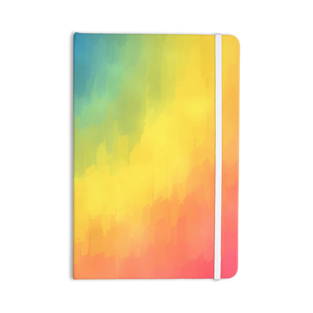 "Fotios Pavlopoulos ""Watercolor Layers"" Rainbow Everything Notebook - KESS InHouse  - 1"