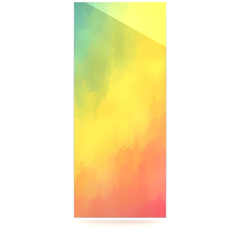 "Fotios Pavlopoulos ""Watercolor Layers"" Rainbow Luxe Rectangle Panel - KESS InHouse  - 1"