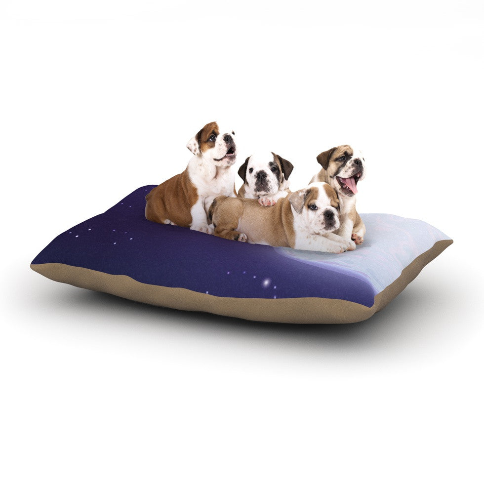 "Fotios Pavlopoulos ""Full Moon"" Night Sky Dog Bed - KESS InHouse  - 1"
