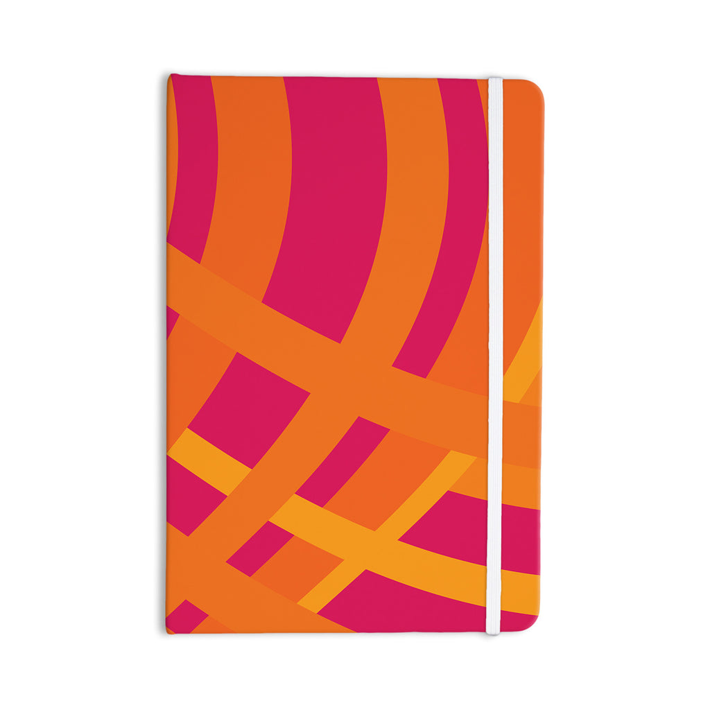 "Fotios Pavlopoulos ""Tangled"" Red Orange Everything Notebook - KESS InHouse  - 1"