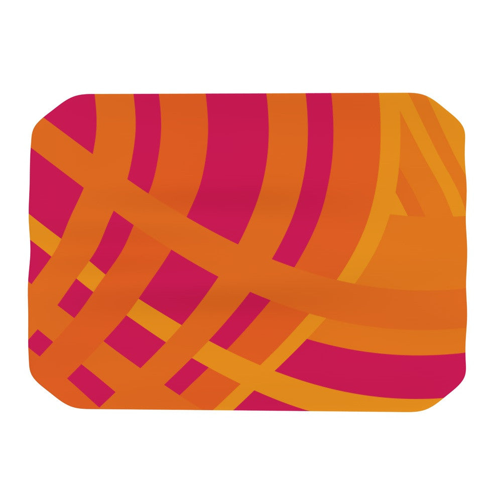 "Fotios Pavlopoulos ""Tangled"" Red Orange Place Mat - KESS InHouse"