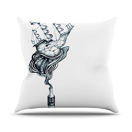 "Graham Curran ""All Aboard"" Throw Pillow - KESS InHouse  - 1"