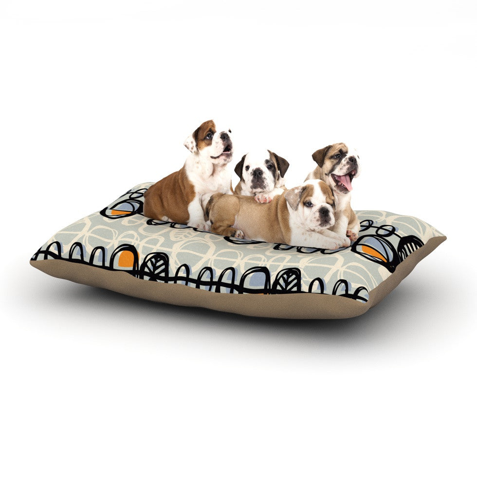 "Gill Eggleston ""Benin"" Dog Bed - KESS InHouse  - 1"