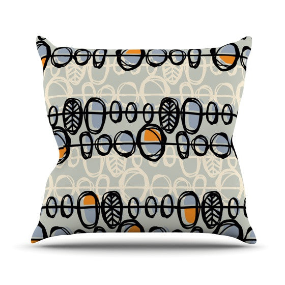 "Gill Eggleston ""Benin"" Outdoor Throw Pillow - KESS InHouse  - 1"