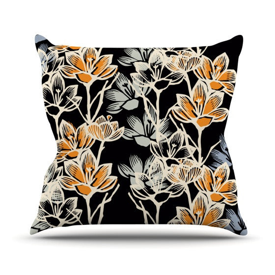"Gill Eggleston ""Crocus"" Outdoor Throw Pillow - KESS InHouse  - 1"