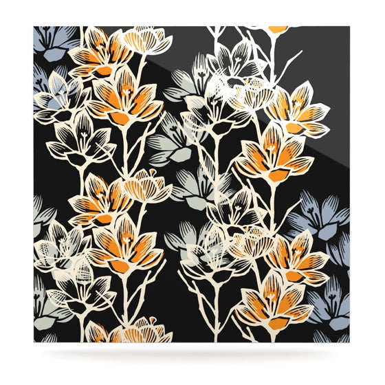 "Gill Eggleston ""Crocus"" Luxe Square Panel - KESS InHouse  - 1"
