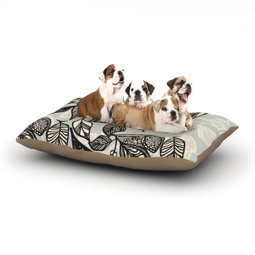 "Gill Eggleston ""Java Leaf"" Dog Bed - KESS InHouse  - 1"
