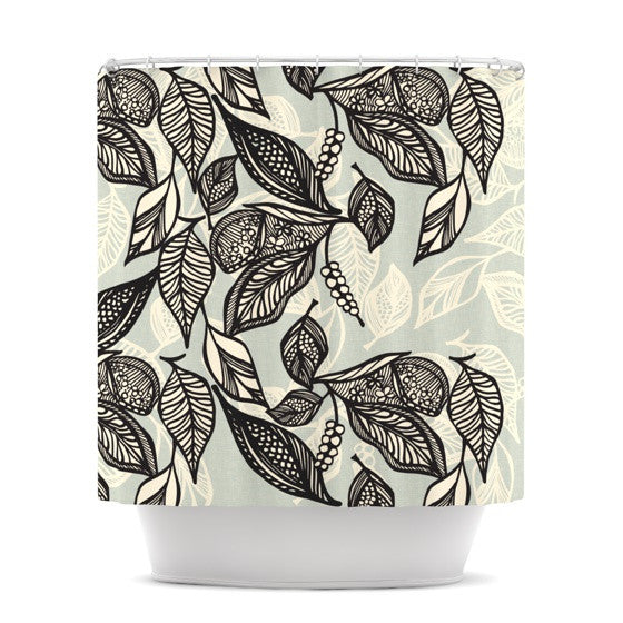 "Gill Eggleston ""Java Leaf"" Shower Curtain - KESS InHouse"