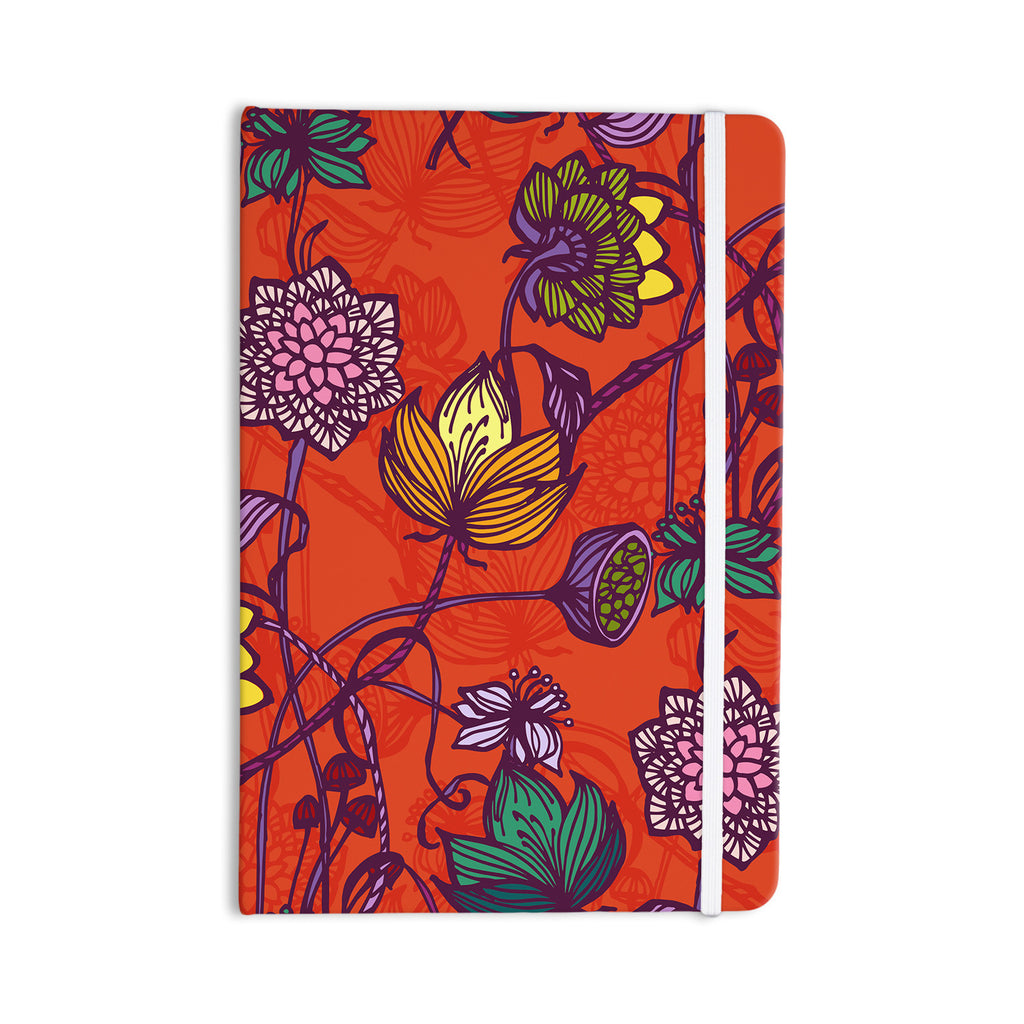 "Gill Eggleston ""Garden Blooms Hot Orange"" Red Floral Everything Notebook - KESS InHouse  - 1"