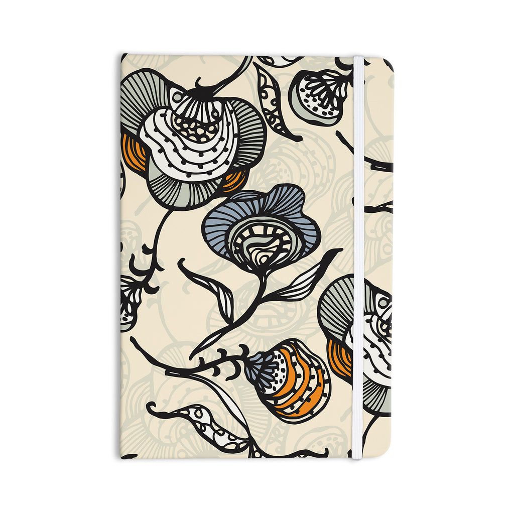 "Gill Eggleston ""Future Nouveau"" Tan Floral Everything Notebook - KESS InHouse  - 1"